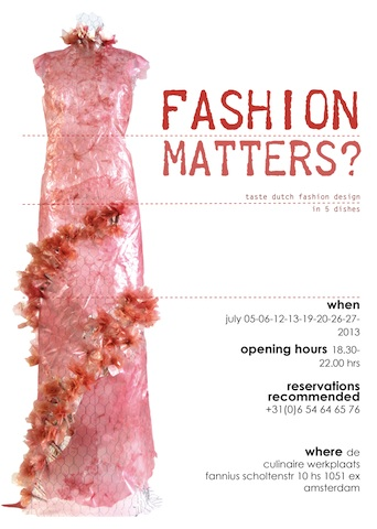 poster fashion matters? edible dress of rhubarb fabric.