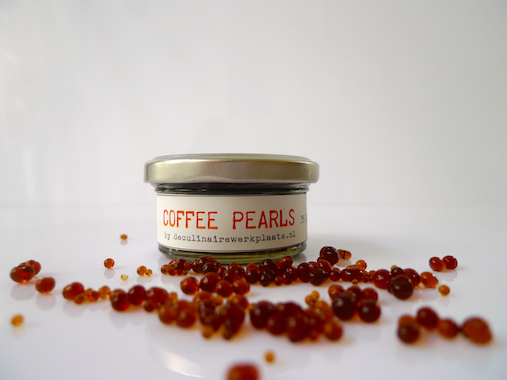 coffee pearls created by de culinaire werkplaats