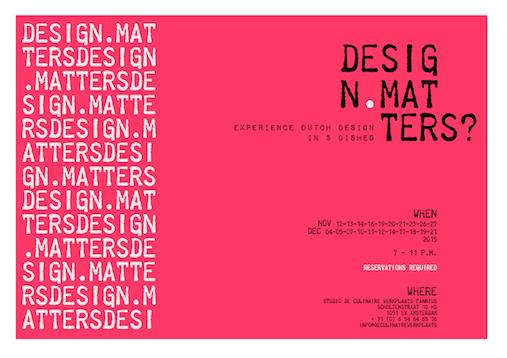 eat'inspiration design matters by studio de culinaire werkplaats