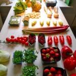 the materials - fruits & veggies
