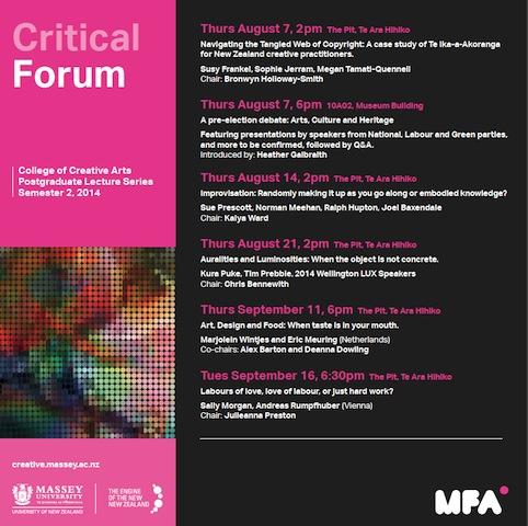 flyer critical forum massey university