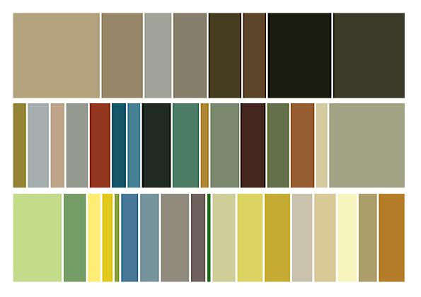 van gogh in colour codes