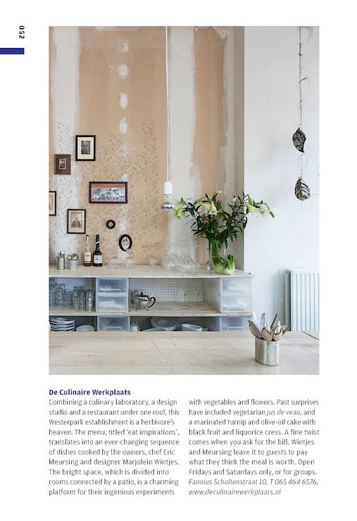 De Culinaire Werkplaats in wallpaper city guide