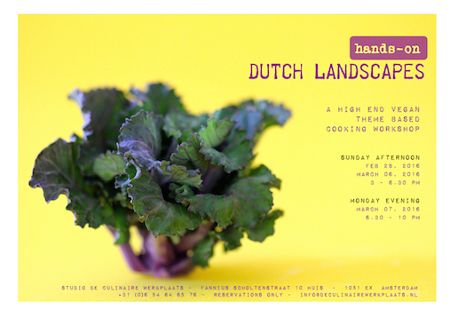 flyer high end vegan workshops dutch landscapes